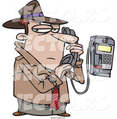 vector-of-a-cartoon-undercover-detective-talking-secretively-on-a-telephone-by-ron-leishman-25178